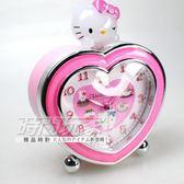 Hello Kitty 愛心立體凱蒂貓 超靜音貪睡鬧鐘 連續音樂 鬧鈴 三麗鷗授權 台灣製造 JM-E540-KT