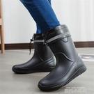 春夏季男士雨鞋中筒防滑防水時尚雨靴工作鞋洗車保暖水鞋釣魚膠鞋 依凡卡時尚