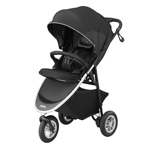 愛普力卡 Aprica SMOOOVE 大三輪 挑高型座椅大三輪型嬰幼兒手推車-黑豹
