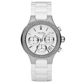 DKNY 極羨之美晶鑽時尚陶瓷腕錶-NY4985