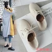 單鞋L小皮鞋I兩穿小皮鞋女復古潮韓版百搭學生粗跟單鞋