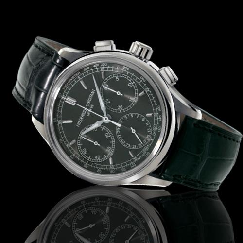 康斯登 CONSTANT自製機芯返馳式計時腕錶-深灰    FC-760DG4H6