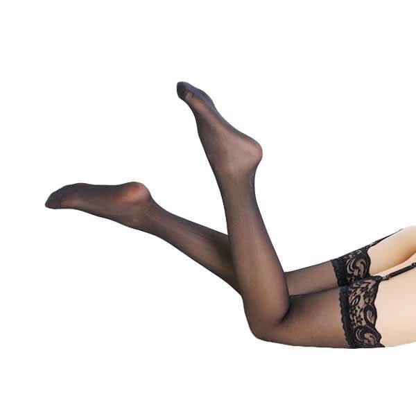 女衣性感透膚蕾絲花邊大腿絲襪(贈吊襪帶)女衣