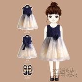 女童洋裝夏裝洋氣女孩禮服原創時尚星空花朵公主裙兒童裙子夏款 雙十二全館免運