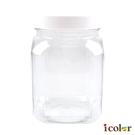 i color 白蓋方型透明保存容器(1.3L)