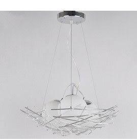 設計師美術精品館【蘭欣】創意時尚現代簡約鋁質餐吊燈具餐廳燈臥室燈藝術造型燈飾