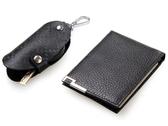 真皮證件夾+鑰匙包-隨意俐落熱銷男皮件bm67【巴黎精品】