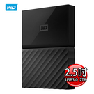 WD My Passport 2TB(黑) USB3.0 2.5吋 行動硬碟(薄型) WDBS4B0020BBK-WESN
