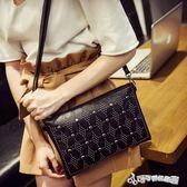 手拿包 包包2018新款手拿包女韓版個性時尚純色百搭潮信封包包單肩斜跨包 Cocoa