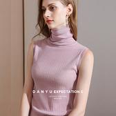 高領羊毛衫素色無袖背心針織內搭(六色S-3XL可選)/設計家 AL010068