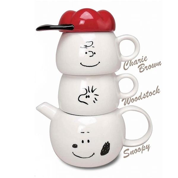 又敗家@日本MC.史努比瓷泡茶壼茶杯Tea for two史奴比SNOOPY水壼水杯子SPY-386查理布朗壼糊塗塌客杯