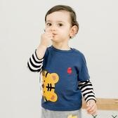 兒童衣服 衣服長袖T恤男童春秋裝1兒童女3歲6個月9小童12打底上衣Y5481