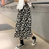 2020年夏季新款小雛菊半身裙女夏裙子顯瘦高腰A字裙中長款碎花裙 台北日光