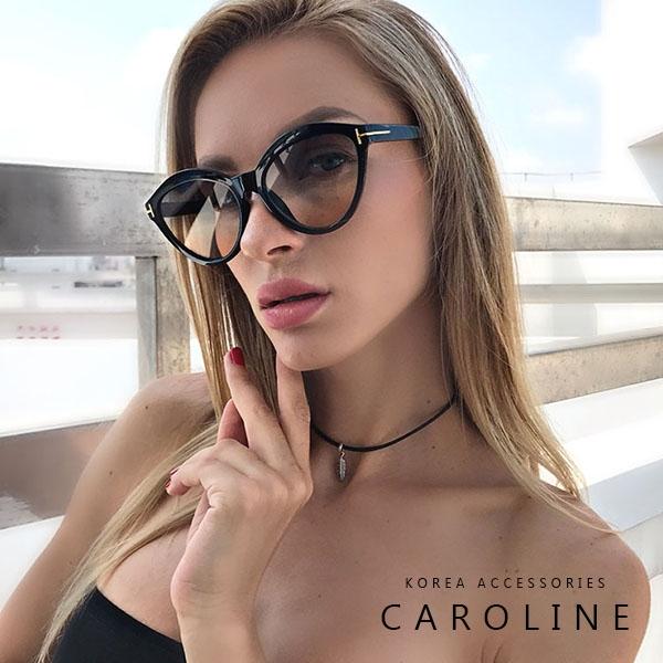 《Caroline》年度最新網紅款潮流行百搭抗UV時尚太陽眼鏡 71845