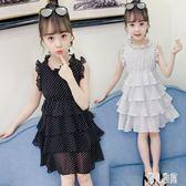 女童洋裝 2019新款兒童超洋氣童裝公主裙 小女孩時尚雪紡連身裙 CJ4931『麗人雅苑』