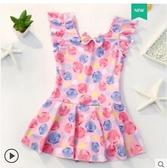 全館83折兒童泳衣女新款連體公主裙式寶寶泳衣韓國可愛卡通女童游泳裝備