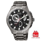 CITIZEN星辰Eco-Drive 碳元素質感光動能腕錶  BL8097-52E -黑