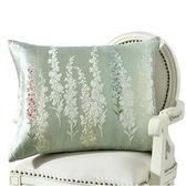 四季加厚歐式新中式沙發水墨畫靠墊抱枕 加大床上腰靠包靠背墊