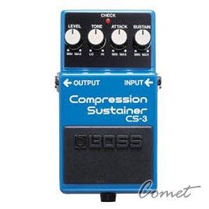 BOSS CS-3 壓縮效果器 【Compression Sustainer/經典壓縮/電吉他/BASS/單踏效果器/CS3】