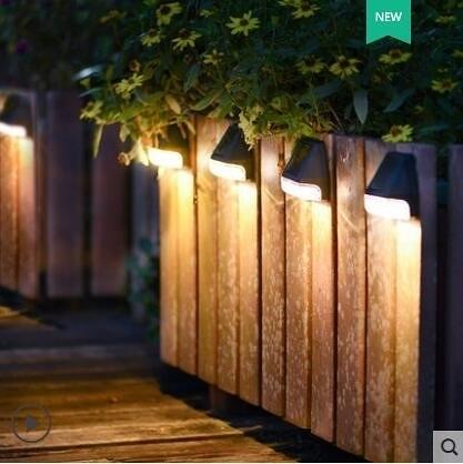 超實惠 庭院造景燈 太陽能燈戶外庭院燈家用防水別墅花園院子圍牆景觀裝飾壁燈