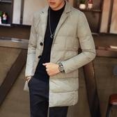 夾克外套-翻領純色簡約冬季保暖夾棉男外套3色73qa25[時尚巴黎]