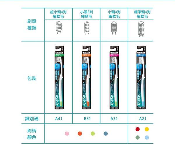 日本獅王細毛牙刷-標準頭4列X6入