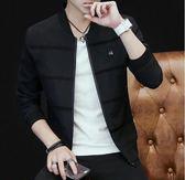 男士外套秋季2018新款春秋夾克男裝青年休閒韓版潮流修身帥氣上衣  晴光小語