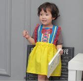 公主圍裙兒童罩衣寶寶反穿衣幼兒吃飯衣畫畫衣服女孩無袖 薔薇時尚