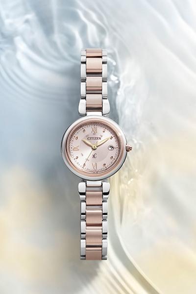 29mm 【分期0利率】星辰錶 CITIZEN XC 玫瑰金 電波錶 光動能 原廠公司貨 ES9465-50W