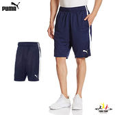 Puma Reble 男 深藍 短褲 風褲 運動褲 10吋 慢跑 休閒 透氣 排汗 雙口袋 腰間抽繩 短褲 83651006