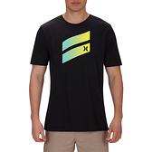 Hurley M PRM ICON SLASH GRADIENT TEE BLACK/AURORA GREEN/(OPTI YELLO T恤 (黑)