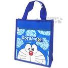 〔小禮堂〕哆啦A夢 直式手提袋《藍.半臉.多臉滿版》輕巧好攜帶4713549-00022
