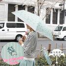 日本限定 迪士尼 Disney 瑪莉貓造型折傘 嫩綠色 雨傘 3段式 該該貝比日本精品 ☆