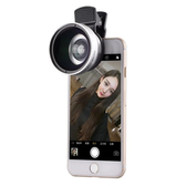手機0.45X微畸變手機鏡頭廣角加超微距二合一手機攝影【全館免運】