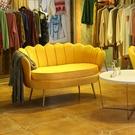 現代北歐輕奢簡約客廳小戶型美容院服裝店鋪網紅懶人布藝單人沙發