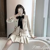 初秋季氣質御姐炸街小香風洋氣小個子顯高搭配減齡職業兩件套裝女 小時光生活館