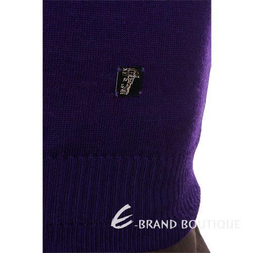 VERSACE 立領長袖針織衫(紫色) 1140258-04