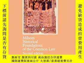 二手書博民逛書店Historical罕見Foundations Of The Common LawY256260 S. F.