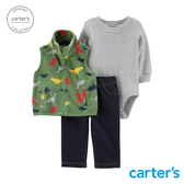 【美國 carter s】 彩色恐龍背心3件組套裝