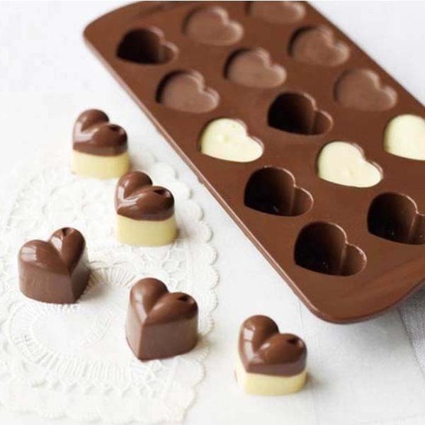 情人節 巧克力模 15入心型巧克模 果凍模 皂模 冰塊模 想購了超級小物