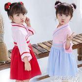 女童改良漢服夏復古童裝中國風唐裝古裝襦裙民族風洋裝 遇見生活