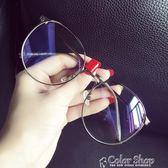 超大框圓臉文藝防輻射藍光眼鏡框女韓版潮復古平光鏡架color shop