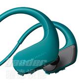 預購【曜德 買一送三】SONY NW-WS413 藍 4GB 防水極限運動數位隨身聽 / 送收納盒+耳塞+絨布袋