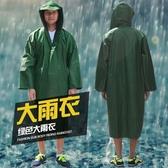 連身雨衣雨衣成人釣魚防水耐磨軍綠色帆布連身戶外旅行徒步男士長版雨披