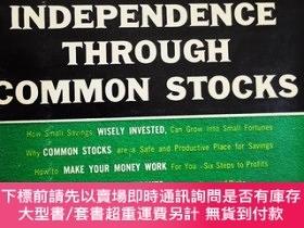 二手書博民逛書店FINANCIAL罕見INDEPENDENCE THROUGH COMMON STOCKSY6388 ROBE