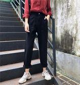 網紅同款牛仔褲女春秋2018新款韓版顯瘦高腰初戀褲學生女闊腿褲潮