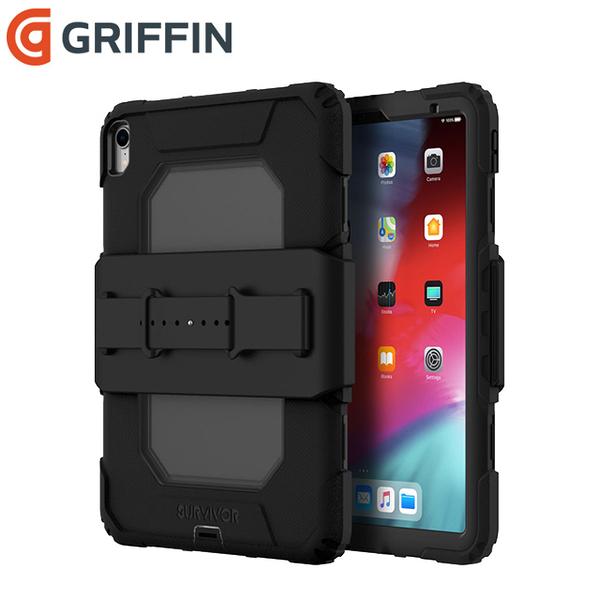 Griffin Survivor All-Terrain iPad Pro 11吋 軍規三層防護保護套組-黑/霧透黑