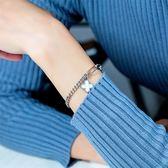 【5折超值價】時尚精美簡約幸運草造型女款鈦鋼手鍊