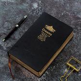 (百貨週年慶)超厚金邊皮本記事本復古隨身日記本創意文具