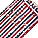 Watchband / 12.14.17.18.19.20 mm / DW 各品牌通用 鍍玫瑰金不鏽鋼扣頭 尼龍錶帶 紅x白x藍 #828-31-BWR-R